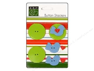 Bazzill: Bazzill Buttons Stackers 9 pc. Bird