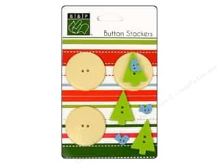 Bazzill: Bazzill Buttons Stackers 9 pc. Tree Bird