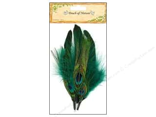 "Feathers peacock: Midwest Design Feather Pick 5-7"" Peacock/Blue/Black 3pc"