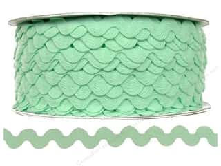 "Cheep Trims Ric Rac 1/2"": Ric Rac by Cheep Trims  1/2 in. Mint (24 yards)"