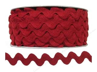 "Cheep Trims Ric Rac 1/2"": Ric Rac by Cheep Trims  11/16 in. Barn Red (24 yards)"