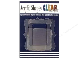 photo corners decorative: Clear Scraps Clearly Framed Acrylic Frames 4 pc Deco