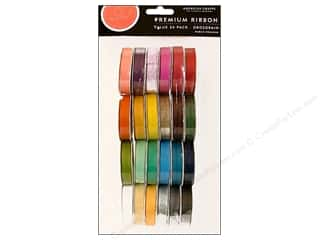 American Crafts Ribbon Value Pack 24 pc. Solid Grosgrain #1