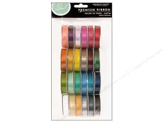 American Crafts Ribbon Value Pack 24 pc. Solid Satin #1