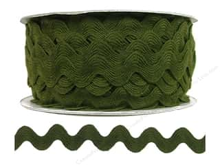 scrapbooking & paper crafts: Cheep Trims Ric Rac 11/16 in. Moss (24 yards)