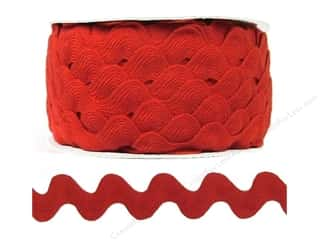 Ric Rac by Cheep Trims  1 in. Red