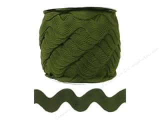 Cheep Trims Ric Rac jumbo: Jumbo Ric Rac by Cheep Trims  1 13/32 in. Moss (24 yards)
