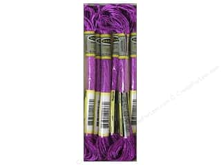 yarn: Sullivans Six-Strand Embroidery Floss 8.7 yd. Metallic Magenta (6 skeins)