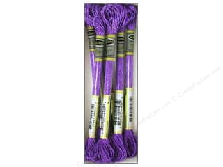 yarn: Sullivans Six-Strand Embroidery Floss 8.7 yd. Metallic Purple (6 skeins)