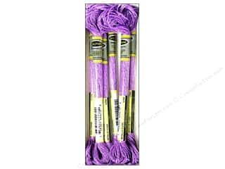 yarn: Sullivans Six-Strand Embroidery Floss 8.7 yd. Metallic Lilac (6 skeins)
