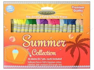 yarn & needlework: Sullivans Embroidery Floss Pack 36 pc. Summer Collection