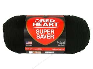 Red Heart Super Saver Jumbo Yarn #312 Black 744 yd.