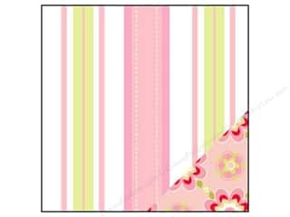 Bazzill flowers: Bazzill 12 x 12 in. Paper Divinely Sweet Pink Dash Stripe/Stencil Flower 25 pc.