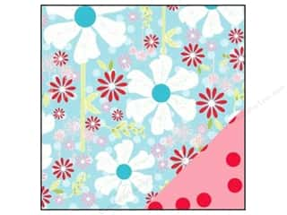 Bazzill dotted swiss cardstock: Bazzill 12 x 12 in. Paper Divinely Sweet Pinwheel Garden/Red Polka Dot 25 pc.