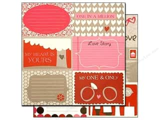 Bazzill cardstock 12x12: Bazzill 12 x 12 in. Paper Lickety Slip Love Story Horizontal 25 pc.