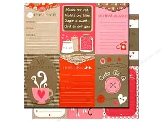 Clearance Bazzill Lickety Slip Journaling Cards: Bazzill 12 x 12 in. Paper Lickety Slip Love Story Vertical 25 pc.