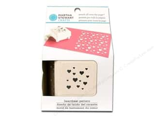 Martha Stewart Punch All Over The Page Heartbeat Pattern