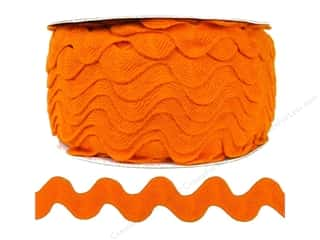 Cheep Trims: Ric Rac by Cheep Trims  1 in. Orange (24 yards)