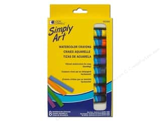 craft & hobbies: Loew Cornell Simply Art Watercolor Crayons 8 pc.