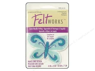 Weekly Specials Needle Felting: Dimensions Feltworks Needle Felting Kits Applique Butterfly