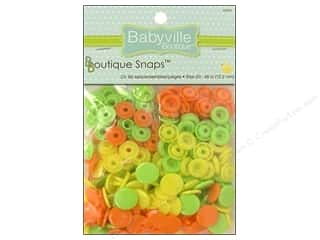 Babyville by Prym/Dritz: Dritz Babyville Boutique Snaps 1/2 in. Green, Yellow & Orange 60 pc.