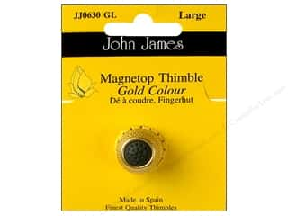 John James Magnetop Thimble Large Gold