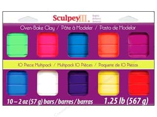 Polymer Clay: Sculpey III Clay Multipack 10 pc. Bright Ideas
