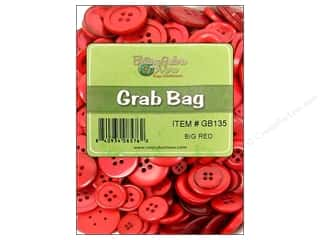 Button: Buttons Galore Grab Bag 6 oz. Big Red