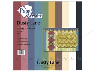 Paper Accents Cardstock: Cardstock Variety Pack 12 x 12 in. Dusty Lane 10 pc. by Paper Accents