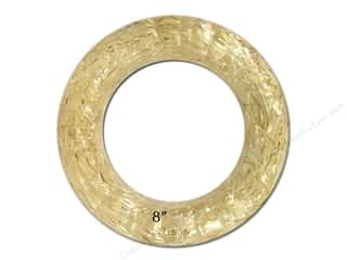 FloraCraft Straw Wreath 8 in. Clear Wrap