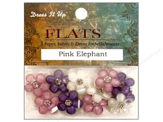 craft & hobbies: Jesse James Dress It Up Embellishments Flats Pink Elephant