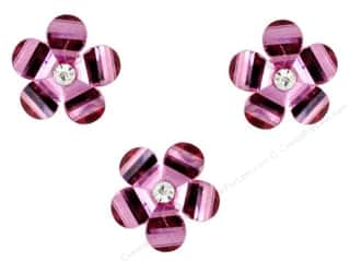 craft & hobbies: Jesse James Dress It Up Embellishments Brilliant Blooms Fuchsia