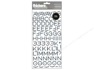 thickers: American Crafts Thickers Alphabet Stickers Hardcover Silver