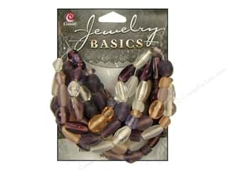 Cousin Basics Glass Beads 50 gram Mixed Hues and Shapes Lavender