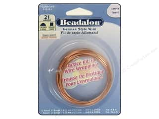 Beadalon German Style Wire 21ga Half Round and Square Copper 16.4 ft.