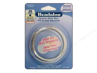 Beadalon German Style Wire 20ga Fancy Square Silver Plated 6.5 ft.