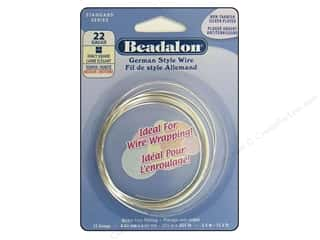 Beadalon German Style Wire 22ga Fancy Square Silver Plated 11.5 ft.