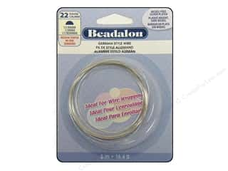 beading & jewelry making supplies: Beadalon German Style Wire 22ga Half Round Silver Plated 16.4 ft.
