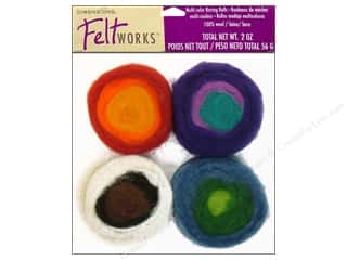 Multi Colored Yarn: Dimensions Feltworks 100% Wool Roving Rolls Multi
