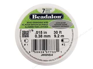 seed beads: Beadalon Bead Wire 7 Strand .015 in. Satin Silver 30 ft.