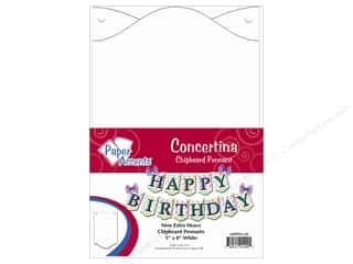 Paper Accents Chipboard Pennants 5 x 8 in. Concertina 9 pc. White