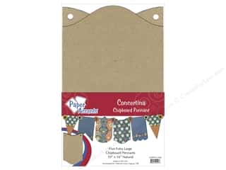 """chipboard""  10x16: Paper Accents Chipboard Pennants 10 x16 in. Concertina 5 pc. Kraft"