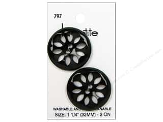 LaPetite 2 Hole Buttons 1 1/4 in. Black #797 2pc.