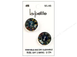 LaPetite 2 Hole Buttons 3/4 in. Iridescent Rainbow #498 2pc.