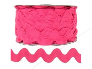 Ric Rac by Cheep Trims  1 in. Bright Pink