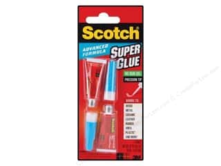 glues, adhesives & tapes: Scotch Adhesive Super Glue Gel Advanced 2 pc
