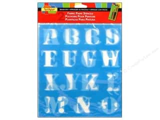 Duncan: Scribbles Fabric Paint Accessories Stencils Letters 1