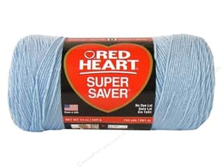 Red Heart Super Saver Jumbo Yarn #381 Light Blue 744 yd.