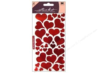 Valentines Day Gifts Paper: EK Sticko Stickers Foil Heart