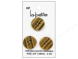 LaPetite 4 Hole Buttons 3/4 in. Tan #247 3pc.